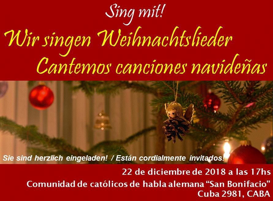 Weihnachtslieder – Canciones Navideñas – 22 Dezember um 17 Uhr ...